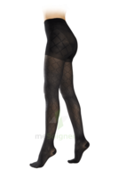Sigvaris Styles Motifs Losanges Collant  Femme Classe 2 Noir Small Normal à RUMILLY