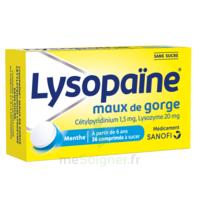 LYSOPAÏNE Comprimés à sucer maux de gorge sans sucre 2T/18 à RUMILLY