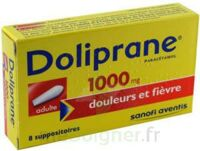 DOLIPRANE 1000 mg Suppositoires adulte 2Plq/4 (8) à RUMILLY