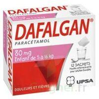 DAFALGAN 80 mg Poudre effervescente pour solution buvable B/12 à RUMILLY