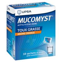 MUCOMYST 200 mg Poudre pour solution buvable en sachet B/18 à RUMILLY