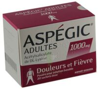 ASPEGIC ADULTES 1000 mg, poudre pour solution buvable en sachet-dose 15 à RUMILLY
