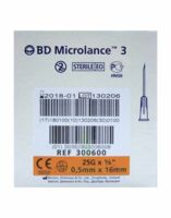BD MICROLANCE 3, G25 5/8, 0,5 mm x 16 mm, orange  à RUMILLY