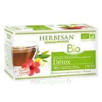 Herbesan Infusion Bio Tisane Détox 20 Sachets à RUMILLY