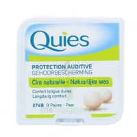 QUIES PROTECTION AUDITIVE CIRE NATURELLE 8 PAIRES à RUMILLY
