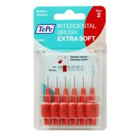 TePe Brossettes Interdentaires Extra Souples rouge pastel 0.5mm à RUMILLY
