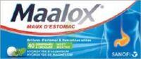MAALOX HYDROXYDE D'ALUMINIUM/HYDROXYDE DE MAGNESIUM 400 mg/400 mg Cpr à croquer maux d'estomac Plq/40 à RUMILLY