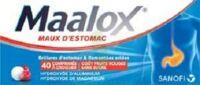 MAALOX MAUX D'ESTOMAC HYDROXYDE D'ALUMINIUM/HYDROXYDE DE MAGNESIUM 400 mg/400 mg SANS SUCRE FRUITS ROUGES, comprimé à croquer édulcoré à la saccharine sodique, au sorbitol et au maltitol à RUMILLY