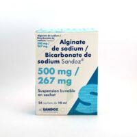 ALGINATE DE SODIUM/BICARBONATE DE SODIUM SANDOZ 500 mg/267 mg, suspension buvable en sachet à RUMILLY