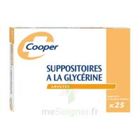 SUPPOSITOIRES A LA GLYCERINE COOPER Suppos en récipient multidose adulte Sach/25 à RUMILLY