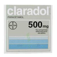 CLARADOL 500 mg, comprimé effervescent sécable