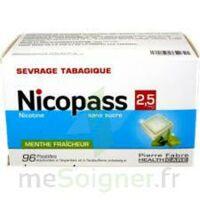 Nicopass 2,5 Mg Pastille Menthe Fraîcheur Sans Sucre Plq/96 à RUMILLY