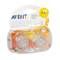 AVENT Sucette silicone 0-6mois transparente B/2 à RUMILLY