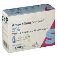 AMOROLFINE SANDOZ 5 % V ongles médicamenteux Fl/2,5ml+20spatules à RUMILLY