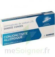 CROMOGLICATE DE SODIUM SANDOZ CONSEIL 2 %, collyre en solution en récipient unidose 10Unid/0,3ml à RUMILLY
