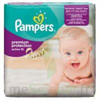 PAMPERS ACTIVE FIT, taille 3, midi, 4 kg à 9 kg, sac 28