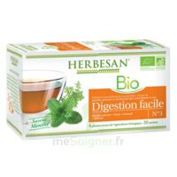 Herbesan Infusion Bio Tisane digestion facile 20 Sachets à RUMILLY