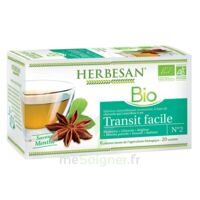 Herbesan Infusion Bio Tisane transit facile 20 Sachets à RUMILLY