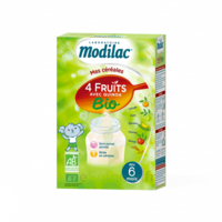 Modilac Céréales Farine 4 Fruits quinoa bio à partir de 6 mois B/230g à RUMILLY
