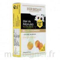 Herbesan - Billes fourrées Miel de Manuka IAA 10+ B/12 à RUMILLY