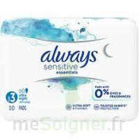 Always Serviettes Sensitives Essentials - Nuit à RUMILLY