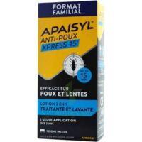 Acheter Apaisyl Anti-poux Xpress 15' Lotion antipoux et lente 200ml+peigne à RUMILLY