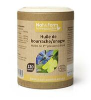 Nat&Form Eco Responsable Huile de Bourrache+Onagre Bio+Vitamine E Caps B/120 à RUMILLY