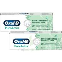Oral B Pureactiv Dentifrice soin essentiel 2T/75ml à RUMILLY
